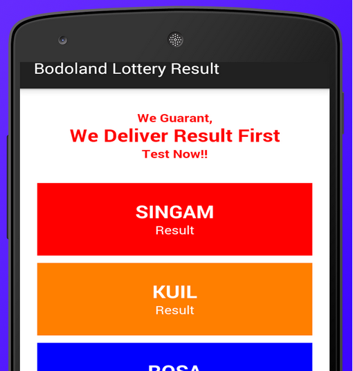 Bodoland State Lottery Result App